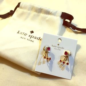 Kate Spade Dainty Sparklers jacket earrings